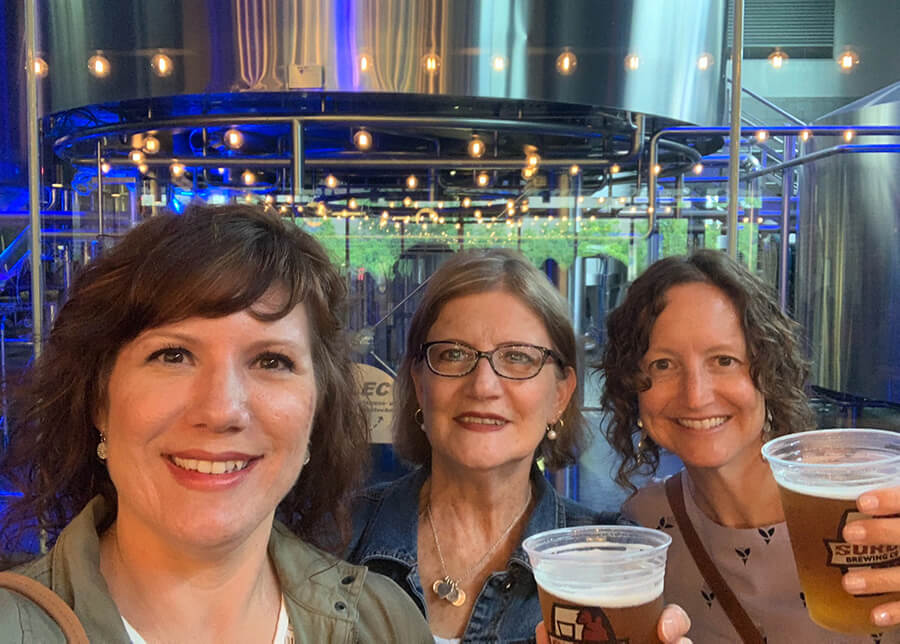 Renee and others at brewery